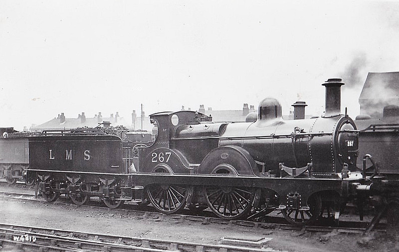 MR - 267 - Johnson MR 1502 Class 2-4-0 - built 1881 by Neilson & Co. as MR No.1527 - 1907 to MR No.267 - 1938 withdrawn.
