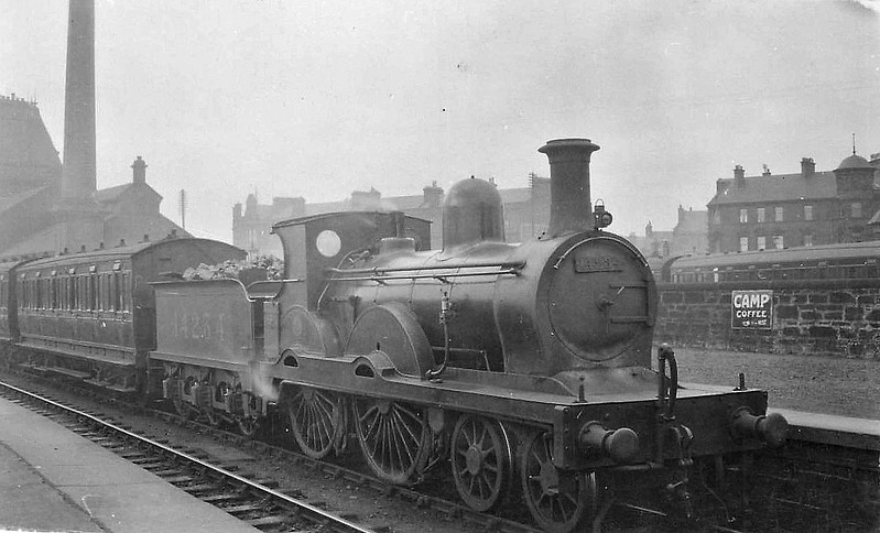 GSWR - 14234 - Stirling GSWR Class 191 4-4-0 - built 03/1875 by Kilmarnock Works as GSWR Class 6 No.36 - 01/1896 to GSWR No.36A, 10/1899 rebuilt to Class 191 by Manson, to GSWR No. 197 - 1919 to GSWR No.475 - 1923 to LMS No.14234 - 1930 withdrawn.