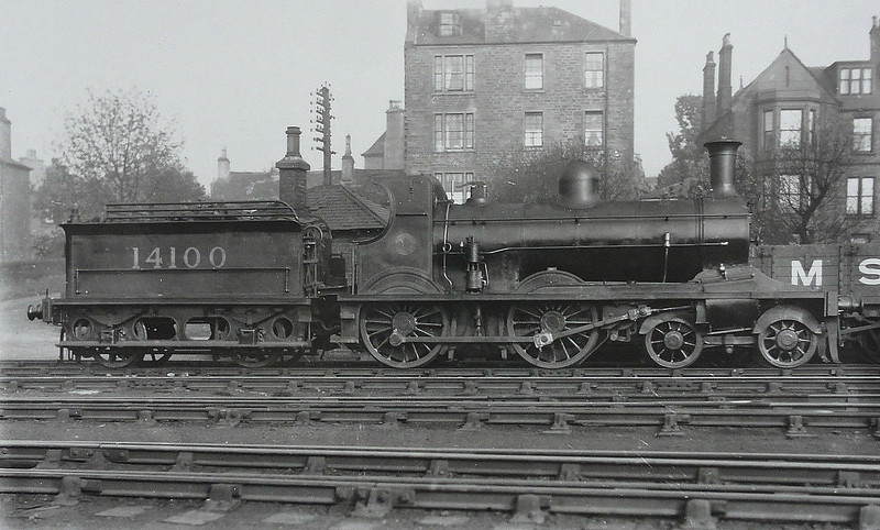 CR - 14100 - Brittain CR Class 179 'Oban Bogie' 4-4-0 - built 1882 by Dubs & Co. as CR No.179 - 1913 to Duplicate List as No.1179, 1923 to LMS No.14100 - 1930 withdrawn.