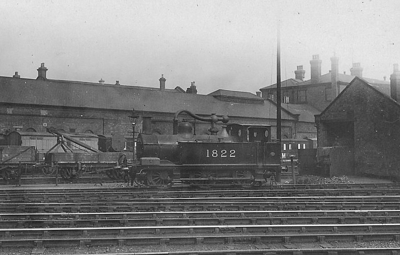 MR - 1822 - Johnson MR Class 1F 0-6-0T - built 09/1891 by Derby Works as MR No.1113 - 1907 to MR No.1822 - 1921 rebuilt - 12/32 withdrawn - seen here at Derby.