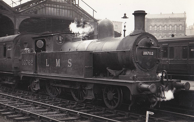 LYR - 10762 - Aspinall LYR Class 5 2P 2-4-2T - built 09/1896 by Horwich Works as LYR No.1329 - 1924 to LMS No.10762, 12/48 to BR No.50762 - 12/53 withdrawn from 25F Low Moor.