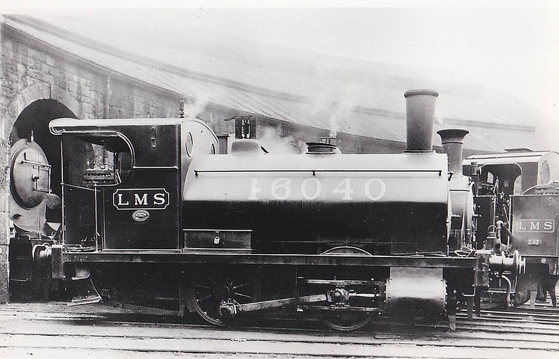 GSWR - 16040 - Smellie GSWR Class 218 0-4-0ST - built 1881 by Andrews Barr & Co. as GSWR No.658 - 1923 to GSWR No.16040 - 1932 withdrawn - seen here at Inverness, Depot Shunter.