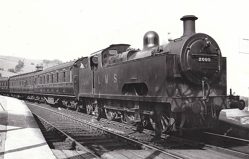 MR - 2000 - Deeley MR Class 3P Flatiron 0-6-4T - built 1907 by Derby Works - 1937 withdrawn - seen here at Ambergate Station.