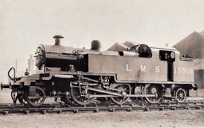 LMS - 15501 - Fowler LMS Class 3P 2-6-2T - built 03/30 by Derby Works as LMS No.15501 - 1934 to LMS No.1, 09/48 to BR No.40001 - 01/61 withdrawn from 9F Heaton Mersey.