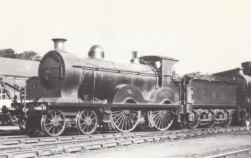 GSWR - 14258 - Manson GSWR Class 240  4-4-0 - built 06/05 by Kilmarnock Works as No.251 - 1919 to GSWR No.386, 1923 to LMS No.14258 - 1931 withdrawn.