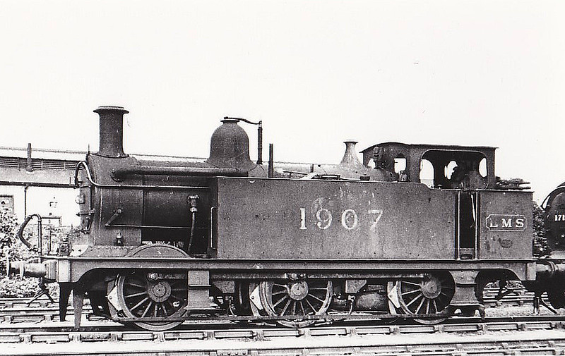 MR - 1907 - Johnson MR Class 3F 0-6-0T - built 01/00 by Vulcan Foundry as MR No.2448 - 1907 to MR No.1907, 1934 to LMS No.7207, 06/48 to BR No.47207 - 02/64 withdrawn from 6A Chester - seen here at Cricklewood..