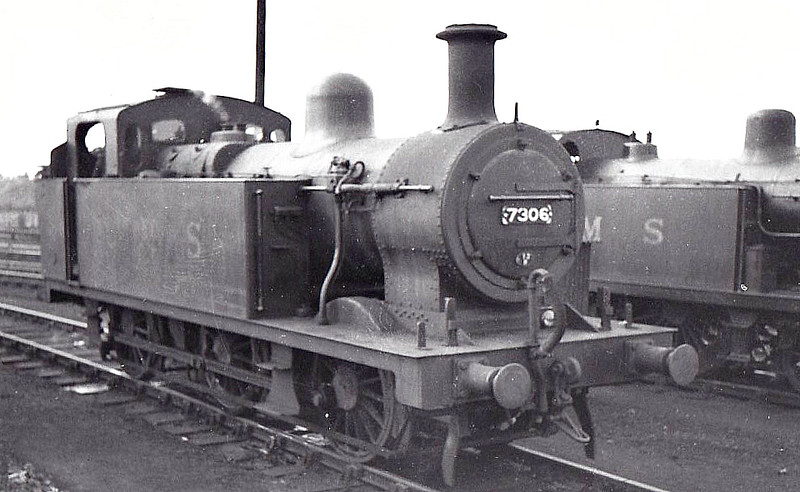 LMS - 7306 - Fowler LMS 'Jinty' Class 3F 0-6-0T - built 02/25 by Hunslet Engine Co. - 02/49 to BR No.47306 - 12/64 withdrawn from 9G Gorton.