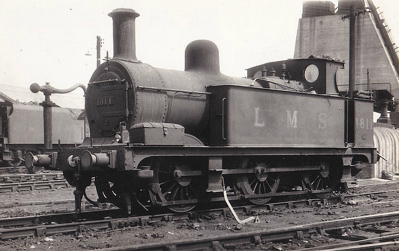 MR - 1811 - Johnson MR Class 1F 0-6-0T - built 10/1890 by Derby Works as MR No.1988 - 1907 to MR No.1811, 10/51 to BR No.41811 - 09/54 withdrawn from 20B Stourton.