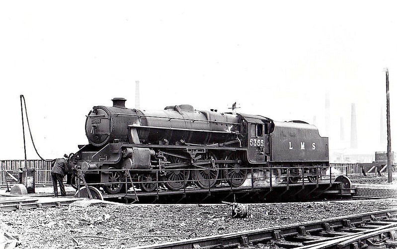 LMS - 5355 - Stanier LMS Class 5MT 4-6-0 - built 05/37 by Armstrong Whitworth - 09/48 to BR No.45355 - 12/62 withdrawn from 64B Haymarket.