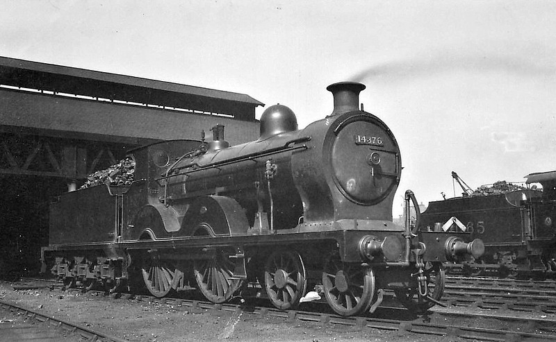 GSWR - 14376 - Manson GSWR Class 18 4-4-0 - built 07/09 by Kilmarnock Works as GSWR No.185 - 1919 to GSWR No.348 - 1923 to LMS No.14376 - 1931 withdrawn.
