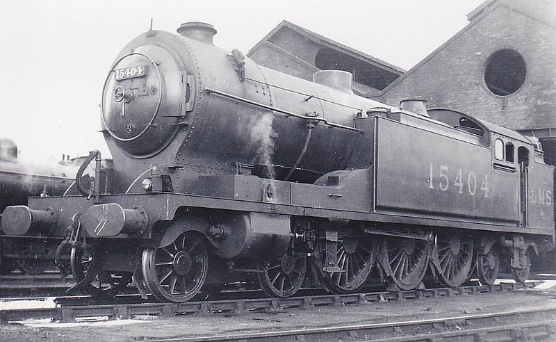 GSWR - 15404 - Whitelegg GSWR Class 540 4-6-4T - built 04/22 by North British Loco Co. as GSWR No.544 - 1923 to LMS No.15404 - 09/36 withdrawn.