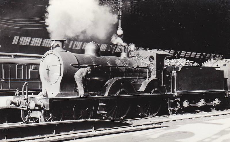 GSWR - 14375 - Manson GSWR Class 18 4-4-0 - built 06/09 by Kilmarnock Works as GSWR No.158 - 1919 to GSWR No.347 - 1923 to LMS No.14375 - 02/28 withdrawn.