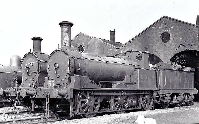LNWR - 8263 - Webb LNWR Class 2F 'Coal Engine' 0-6-0 - built 01/1881 by Crewe Works as LNWR No.1103 - 1923 to LMS No.8263, 1948 to BR No.58354 - 03/53 withdrawn from 11D Barrow - seen here at Moor Row, 08/39.