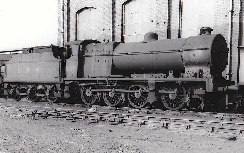 LMS - 9670 - Fowler LMS Class 7F 0-8-0 - built 06/32 by Crewe Works - BR No.49670 not applied - 04/49 withdrawn from 25A Wakefield - seen here at Horwich Works.