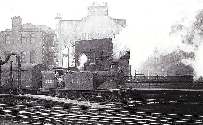 LMS - 15269 - McIntosh CR/LMS Class 439 2P 0-4-4T - built 06/25 by Nasmyth Wilson & Co. - 06/50 to BR No.55269 - 03/62 withdrawn from 60A Inverness - seen here at Glasgow Central, 10/45.