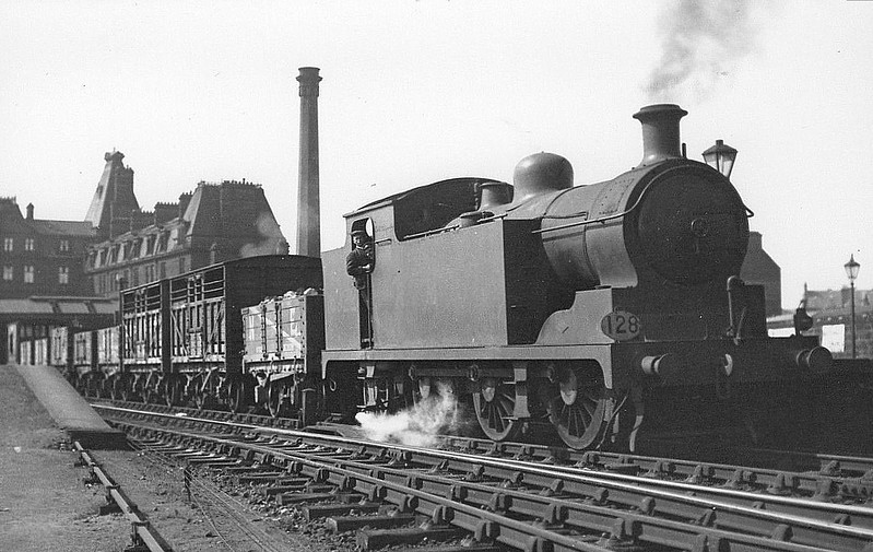 GSWR - 16922 - Drummond GSWR Class 45 -0-6-2T - built 12/15  by North British Loco Co. as GSWR No.45 - 1919 to GSWR No.23, 1923 to LMS No.16422, 1926 to LMS No.16922 - 12/45 withdrawn - seen here at Ayr in 1930.