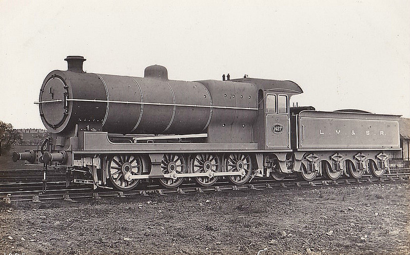 LYR - 1427 - Aspinall LYR Class 91 6F 0-8-0 - built 10/02 by Horwich Works - 1924 to LMS No.12990 - 03/30 withdrawn - this must have been taken just after Grouping as it is ex-works but still has its LYR number - also 'L.M.& S.R' - that didn't last long!