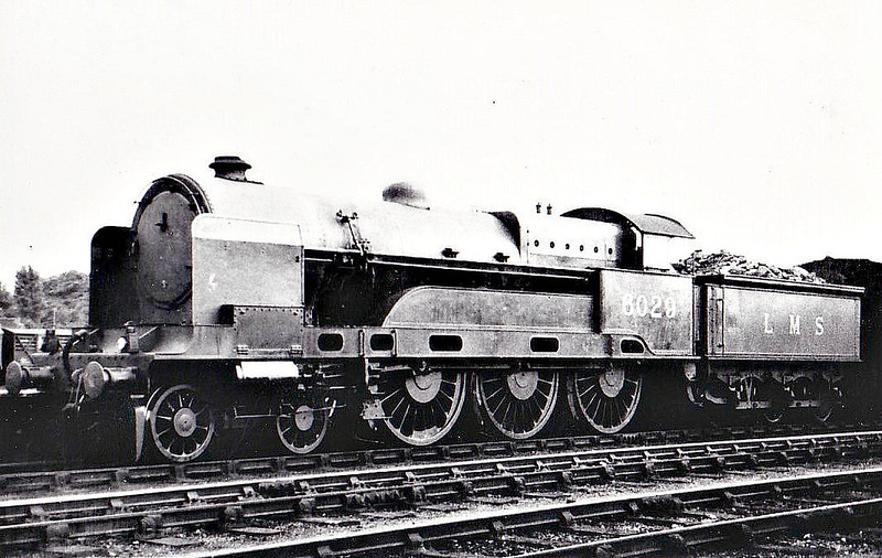 LNWR - 6029 -  Bowen-Cooke LNWR 'Claughton' Class 5XP 4-6-0 - built 06/21 by Crewe Works as LNWR No.1220 - 01/27 to LMS No.6029 - 10/35 withdrawn - seen here at Northampton, 07/33.