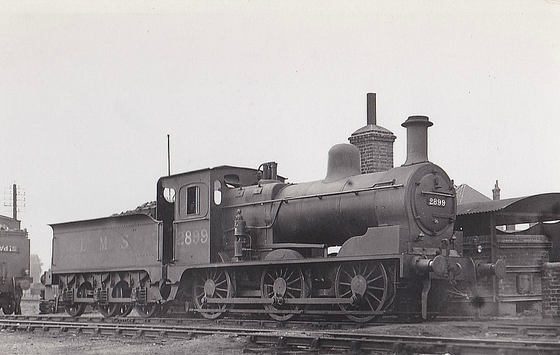 LTSR - 2899 - LTSR Class 49 2F 0-6-0 - built 1898 by Sharp Stewart & Co. for the Ottoman Railway, not delivered, sold to LTSR as No.50 - 1912 to MR No.2899, 1923 to LMS No.22899 - 1936 withdrawn - seen here at Tilbury, 08/31.