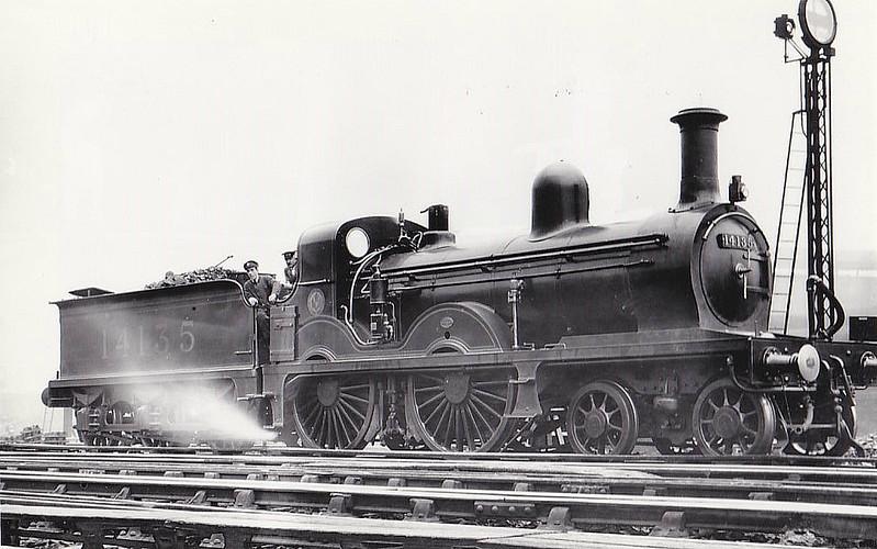 GSWR - 14135 - Smellie GSWR Class 119 4-4-0 - built 03/1885 by Kilmarnock Works as GSWR No.118 - 07/11 to Duplicate List as No.118A, 1919 to GSWR No.705, 1923 to LMS No.14135 - 1930 withdrawn.