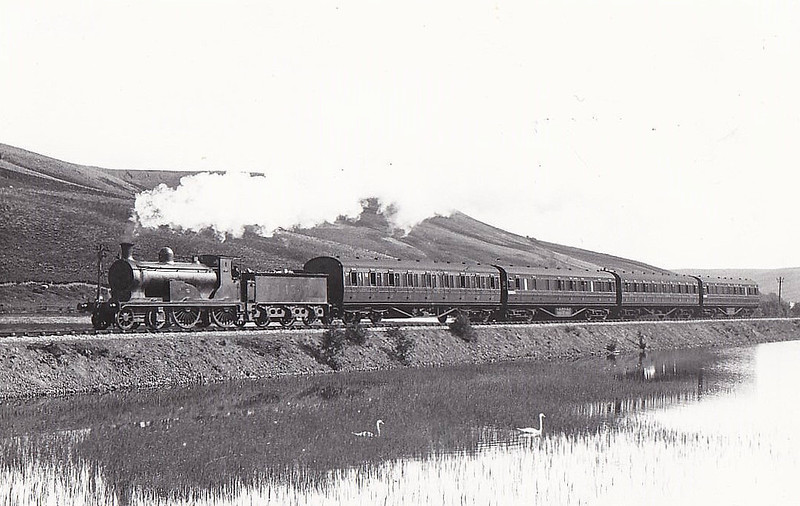 CR - 14317 - McIntosh CR Class 721 4-4-0 - built 1896 by St Rollox Works as CR No.727 - 1923 to LMS No.14317 - 1932 withdrawn - seen here near Inches in 1929.