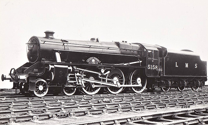 LMS - 5158 GLASGOW YEOMANRY - Stanier LMS Class 5MT 4-6-0 - built 07/35 by Armstrong Whitworth - 06/48 to BR No.45158 - 07/64 withdrawn from 67E Dumfries.