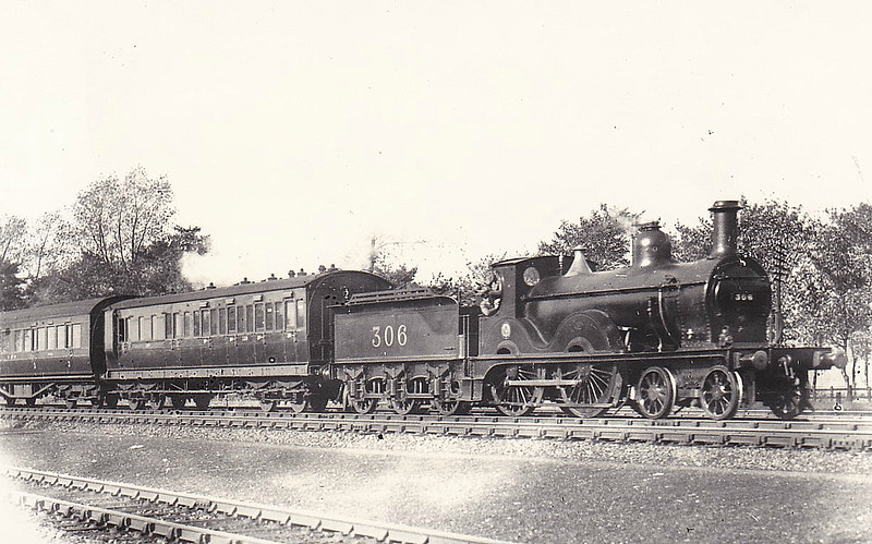 MR - 306 - Johnson MR Class 1312 4-4-0 - built 1877 by Kitson & Co. as MR No.1318 - 1930 withdrawn - seen here at Castle Bromwich in 1930.