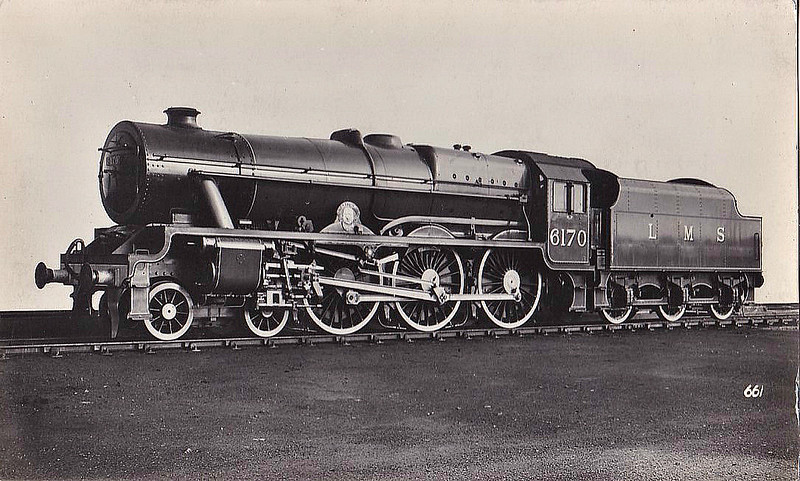 LMS - 6170 BRITISH LEGION -  Fowler LMS Royal Scot 4-6-0 - built 10/35 by North British Loco Co. from No.6399 FURY after boiler exploded and killed the crew - 04/48 to BR No.46170 - 12/62 withdrawn from 6G Llandudno Junction.