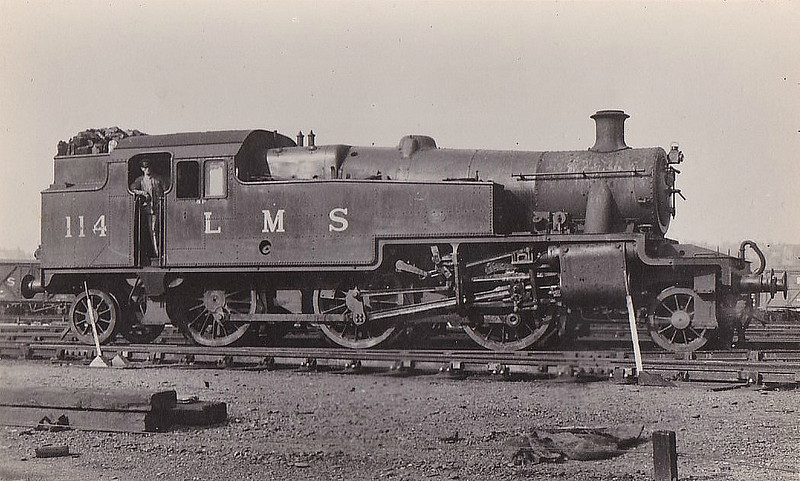 LMS - 114 - Stanier LMS Class 3P 2-6-2T - built 08/35 by Derby Works - 11/48 to BR No.40114 - 11/62 withdrawn from 56C Leeds Copley Hill.