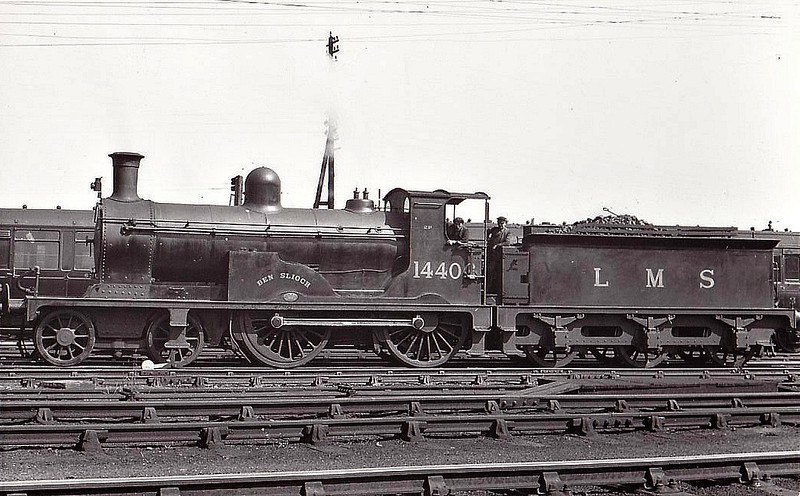 HR - 14406 BEN SLIOCH - Drummond HR 'Small Ben' Class 4-4-0 - built 08/1899 by Lochgorm Works as HR No.10 - 01/23 to LMS No.14406 - 07/47 withdrawn from Inverness MPD.