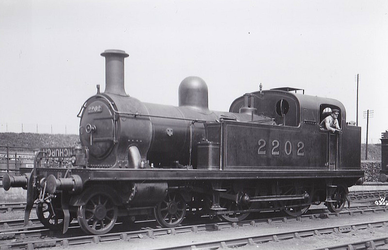LTSR - 2202 - Whitelegg LTSR Class 1 4-4-2T - built 1880 by Sharp Stewart as LTSR No.3 TILBURY - 1912 to MR No.2112, 1923 to LMS No.2202, 10/29 to LMS No.2079 - 09/35 withdrawn.