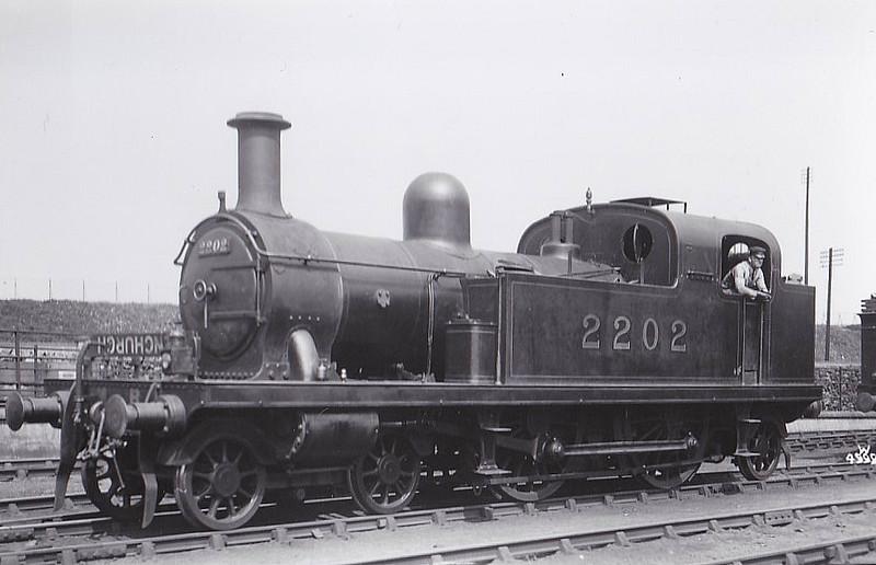 LTSR - 2202 - Whitelegg LTSR Class 1 4-4-2T - built 1880 by Sharp Stewart as LTSR No.3 TILBURY - 1912 to MR No.2112, 1923 to LMS No.2202, 10/29 to LMS No.2079 - 09/35 withdrawn.