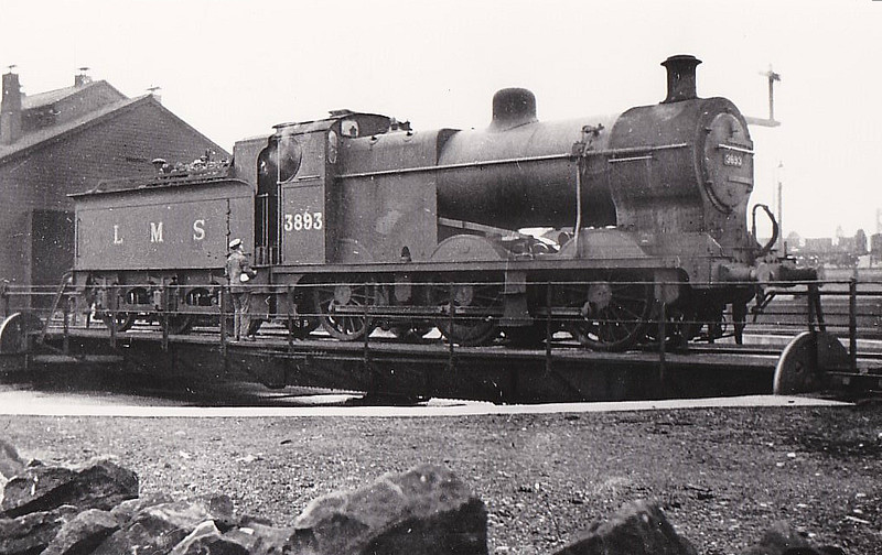 MR - 3863 -  Fowler MR/LMS Class 4F 0-6-0 - built 07/19 by Derby Works - 07/48 to BR No.43863 - 05/65 withdrawn from 23A Skipton, where seen - note tender cab.
