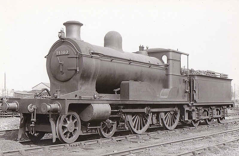 HR - 14380 LOCH NESS - Jones HR Loch Class 2P 4-4-0 - built 07/1896 by Dubs & Co. as HR No.120 - 1923 to LMS No.14380 - 12/40 withdrawn - seen here at Forres, 09/36.