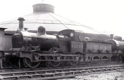 MR - 22589 - Kirtley Class 480 2F 0-6-0T - built 1869 by Yorkshire Engine Co., Works No.75 - 1907 to MR No.2589 - 1923 to LMS - 1932 to LMS No.22589 - 1945 withdrawn - seen here at Derby in August 1939.