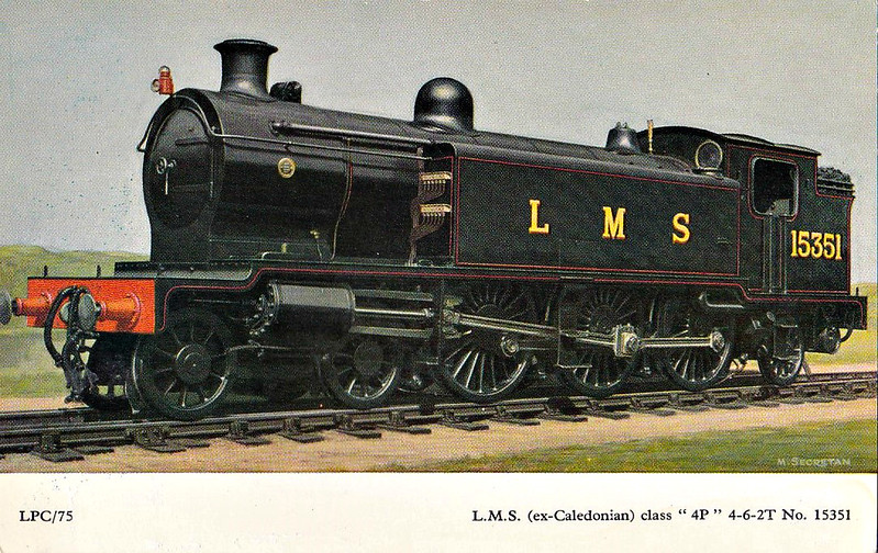 CR - 15351 - Pickersgill CR/LMS Class 944 4-6-2T - built 03/17 by North British Loco Co. as CR No.945 - 01/23 to LMS No.15351, 01/48 to BR No.55351 - 12/48 withdrawn from 12F Beattock.