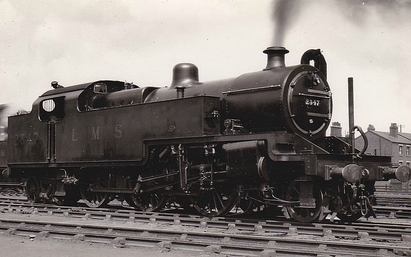 LMS - 2347 - Fowler LMS Class 4P 2-6-4T - built 05/29 by Derby Works - 07/48 to 42347 - 09/62 withdrawn from 12E Barrow in Furness.