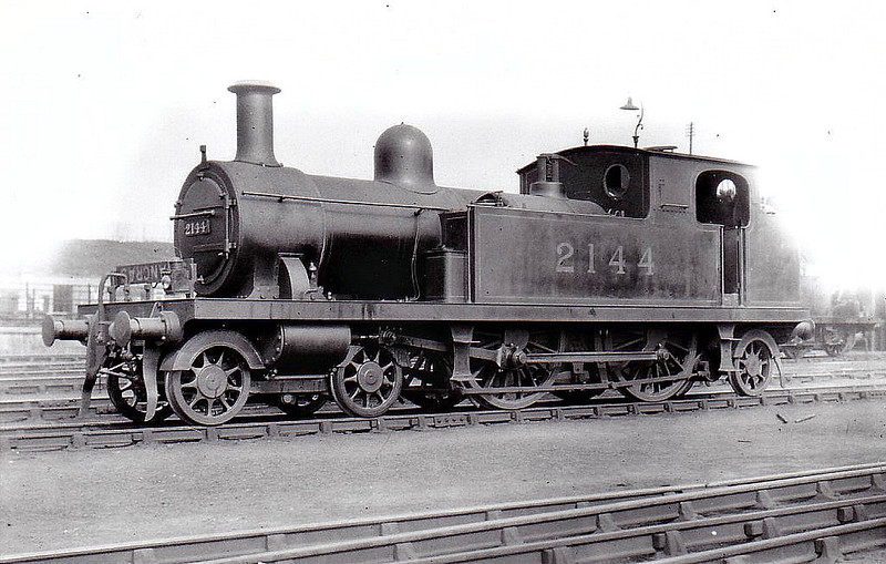LTSR - 2144 - Whitelegg LTSR Class 1 4-4-2T - built 1892 by Nasmyth Wilson & Co. as LTSR No.35 WEST HAM - 1912 to MR No.2144, 1930 to LMS No.2065 - 1933 withdrawn - seen here at Plaistow, 09/23.