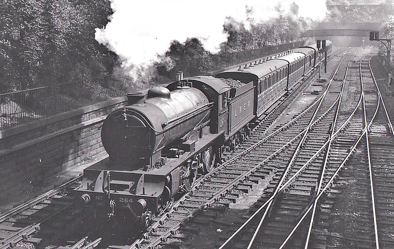 Class D49 -  264 STIRLINGSHIRE - Gresley LNER Hunt Class 4-4-0 - built 12/27 by Darlington Works - 10/46 to LNER No.2704, 07/48 to BR No.62704 - 08/58 withdrawn from 62A Thornton Junction - seen here in Princes Street Gardens, 08/38..