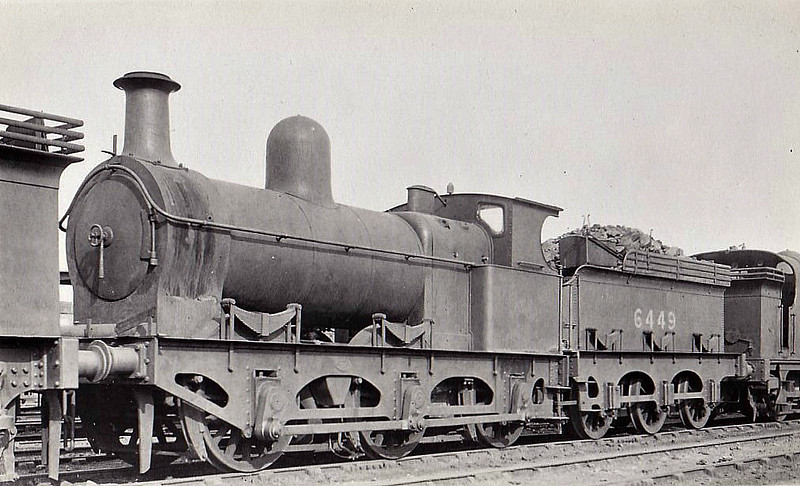 Class J12 - 6449 - Sacre GCR Class 6C 0-6-0 - built 1884 by Gorton Works as GCR No.459 - 1923 to LNER No.6449 - 02/27 withdrawn - seen here at York.