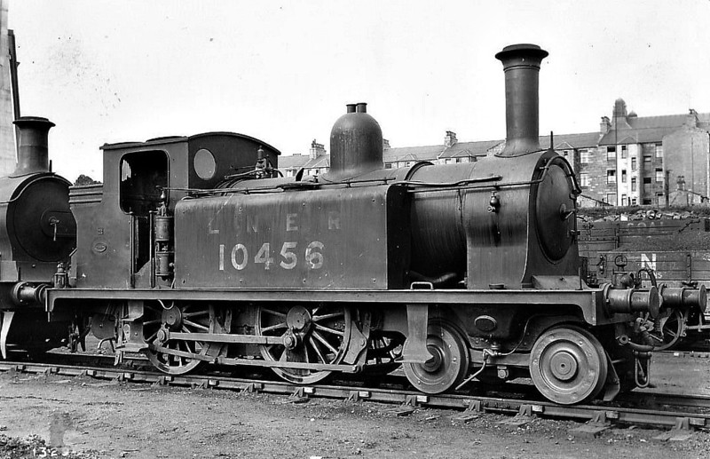 Class D51 - 10456 - Drummond NBR Class R 4-4-0T - built 05/1882 by Cowlairs Works as NBR No.74 COATBRIDGE - 1913 to NBR No.1456, 1923 to LNER No.10456 - 09/31 withdrawn.