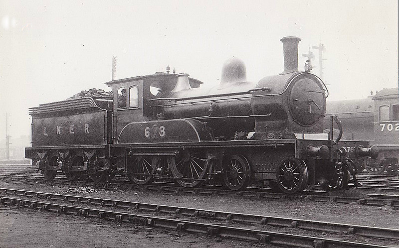 Class D23 - 678 - Worsdell NER Class G 4-4-0 - built 1888 by Darlington Works - 12/33 withdrawn from Kirkby Stephen MPD.