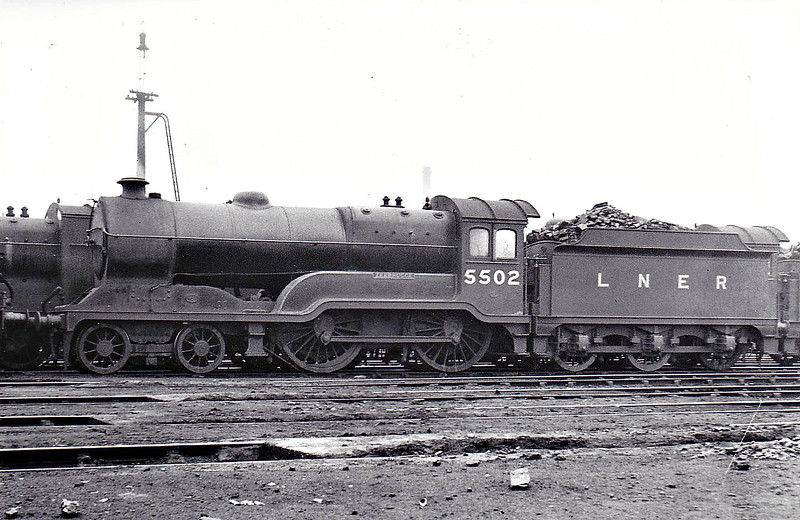 Class D11 - 5502 ZEEBRUGGE - Robinson GCR/LNER Large Director Class 4-4-0 - built 10/22 by Gorton Works as GCR No.502 - 11/24 to LNER No.5502, 07/46 to LNER No.2666, 09/49 to BR No.62666 - 12/60 withdrawn from 41A Sheffield Darnall - seen here at Gorton, 07/37.