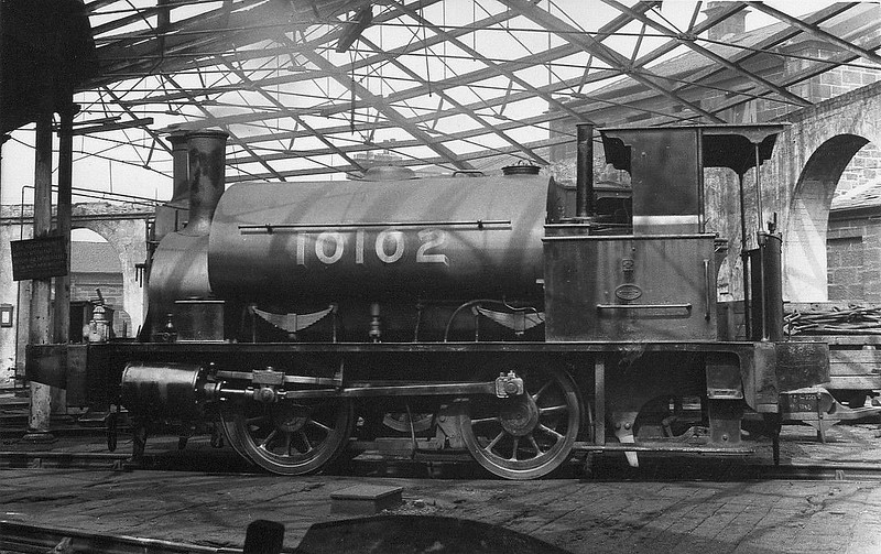 Class Y9 - 10102 - Drummond NBR Class G 0-4-0ST - built 1882 by Neilson & Co. as NBR No.547 - to NBR Duplicate List as No.1102, 09/24 to LNER No.10102, 08/46 to LNER No.8093, 05/48 to BR No.68093 - 05/55 withdrawn from 64A St Margarets.