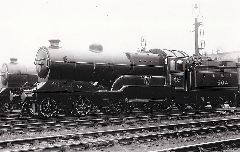 Class D11 - 504 JUTLAND - Robinson GCR Class 11F LNER Class D11 Improved Director 4-4-0 - built 11/22 by Gorton Works as GCR No.504 - 12/24 to LNER No.5504, 10/46 to LNER No.2668, 05/48 to BR No.62668 - 11/60 withdrawn from 41A Sheffield Darnall - seen here before number change but after 1923.