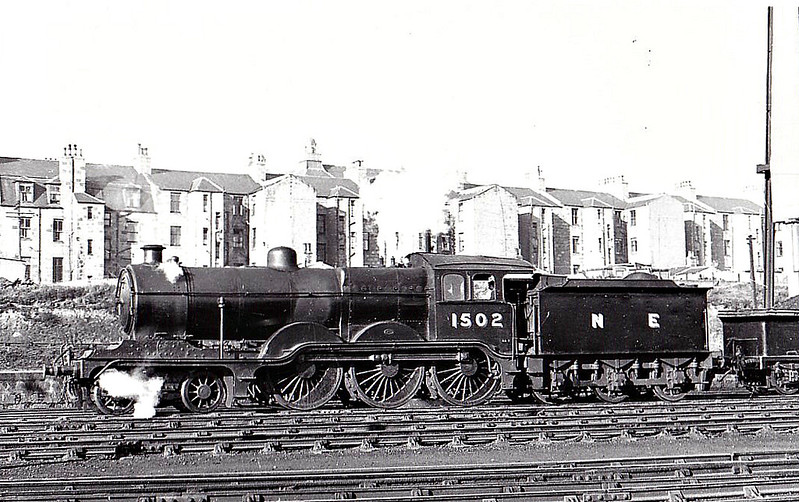 Class B12 - 1502 - Holden/Gresley GER/LNER 4-6-0 - built 02/12 by Stratford Works as GER No.1502 - 1924 to LNER No.8502, 08/46 to LNER No.1502, 06/48 to BR No.61502 - 04/54 withdrawn from 61C Keith - seen here at Kittybrewster, 10/47.
