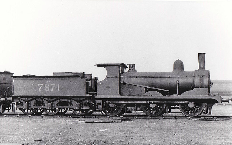 Class J15 - 7871 - Holden GER Class Y14 0-6-0 - built 12/1889 by Stratford Works as GER No.871 - 1924 to LNER No.781, 11/46 to LNER No.5379 - BR No.65379 not applied - 09/49 withdrawn from 31A Cambridge - seen here at Stratford, 03/27.