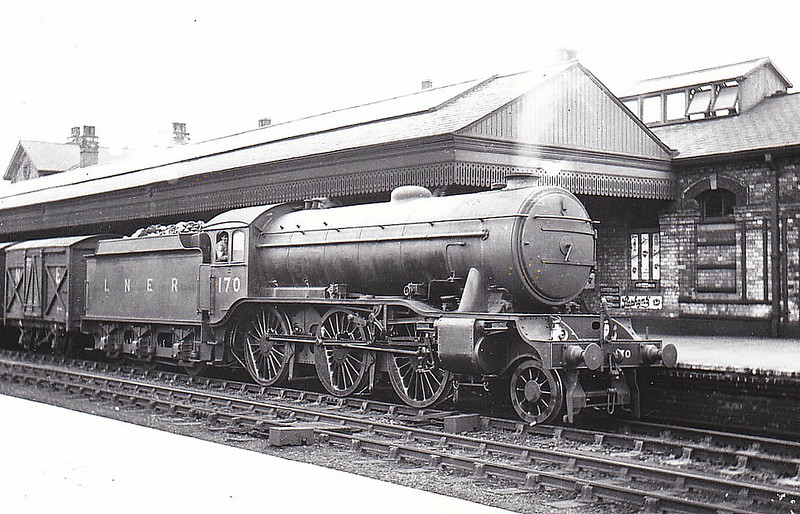 Class K3 - 170 - Gresley GNR 2-6-0 - built 03/25 by Darlington Works - 08/46 to LNER No.1851, 09/48 to BR No.61851 - 11/61 withdrawn from 2F Woodford Halse - seen here at Retford in 1931.