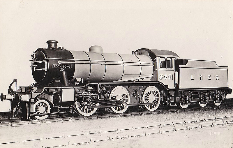 Class K4 - 3441 LOCH LONG - Gresley LNER 2-6-0 - built 01/37 by Darlington Works - 09/46 to LNER No.1993, 05/48 to BR No.61993 - 10/61 withdrawn from 62A Thornton Junction.