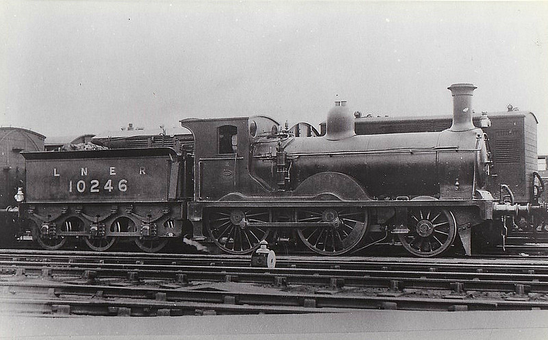 Class E7 - 10246 - Wheatley NBR Class P 2-4-0 - built 1873 by Cowlairs Works as NBR No.425 - 1923 to LNER No.10426 - 09/25 withdrawn from Tweedmouth MPD.